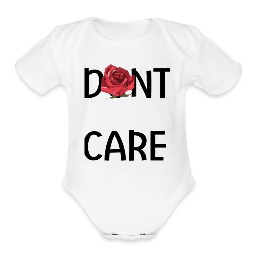Dont Care - Organic Short Sleeve Baby Bodysuit