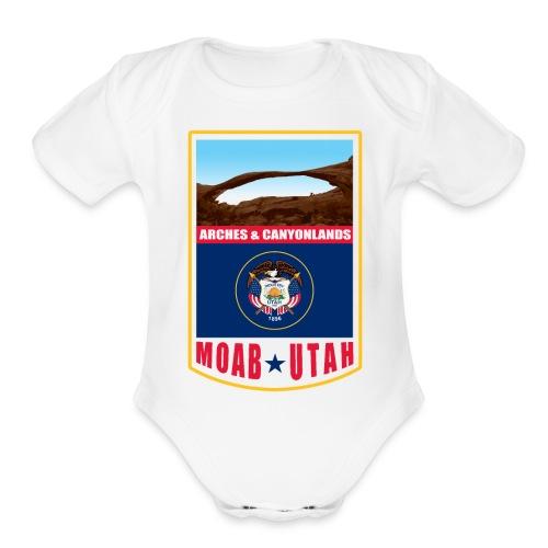 Utah - Moab, Arches & Canyonlands - Organic Short Sleeve Baby Bodysuit