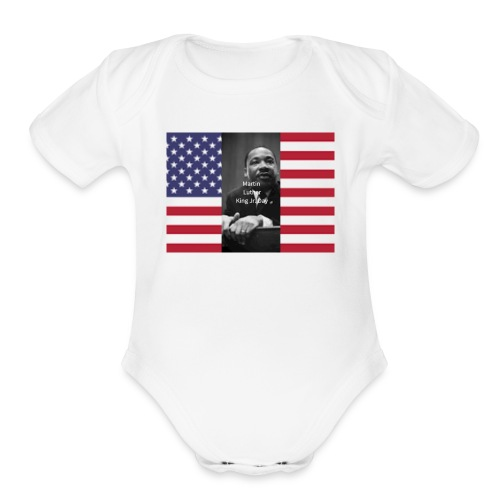 Martin Luther King Jr Day's Graphic Novel - Organic Short Sleeve Baby Bodysuit