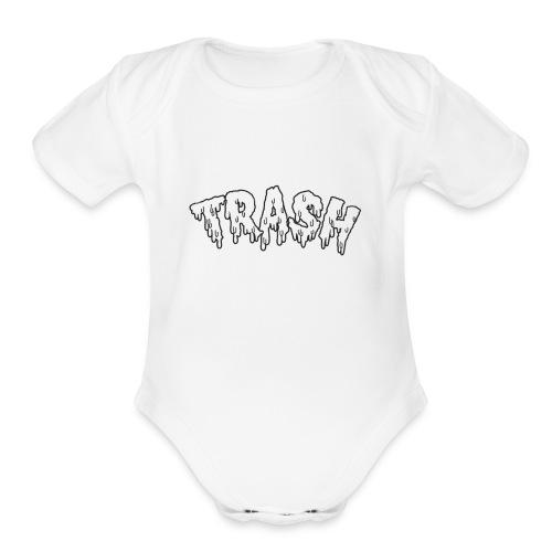 6.GODZZPRODUCTION u trash👾 - Organic Short Sleeve Baby Bodysuit