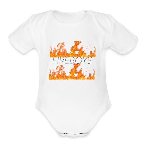 FB FLAME FIRE MERCH - Organic Short Sleeve Baby Bodysuit