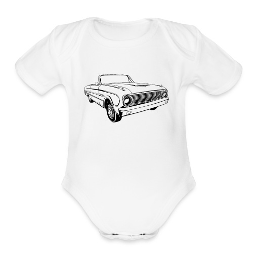 63 Ford Falcon Sprint Conv Men's T-Shirt - Organic Short Sleeve Baby Bodysuit