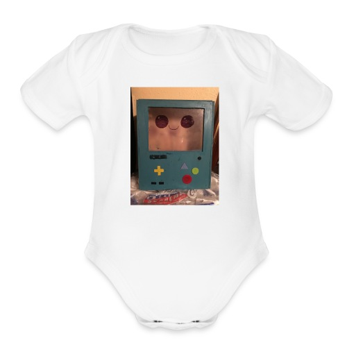 The robot - Organic Short Sleeve Baby Bodysuit