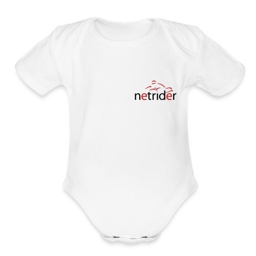 Netrider Logo - Organic Short Sleeve Baby Bodysuit