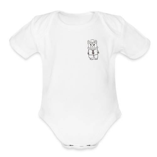 Corgi CEO - Organic Short Sleeve Baby Bodysuit