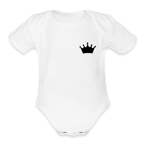 CROWN - Organic Short Sleeve Baby Bodysuit