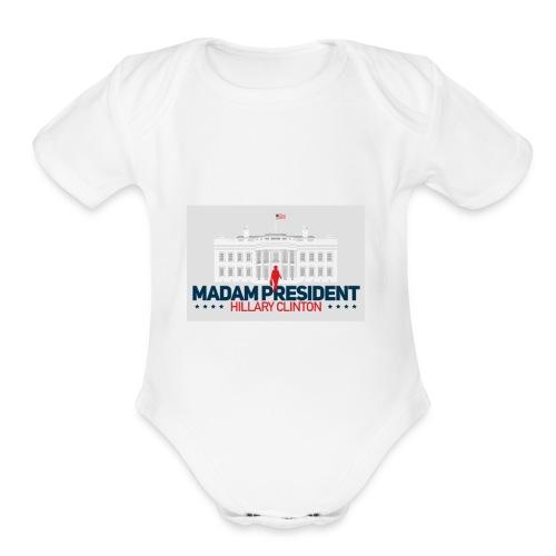 Madam President - Organic Short Sleeve Baby Bodysuit