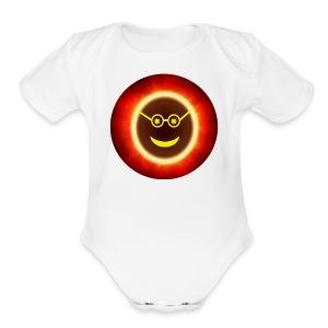 Ecliptomaniac Logo - Short Sleeve Baby Bodysuit