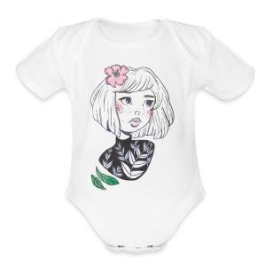 Floral Daydream - Short Sleeve Baby Bodysuit