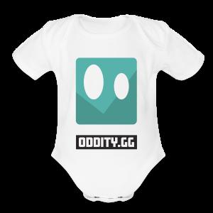 Black Oddity Icon - Short Sleeve Baby Bodysuit