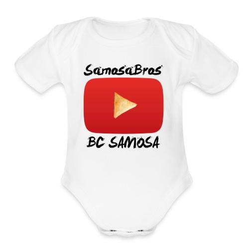 BC SAMOSA LOGO - Organic Short Sleeve Baby Bodysuit