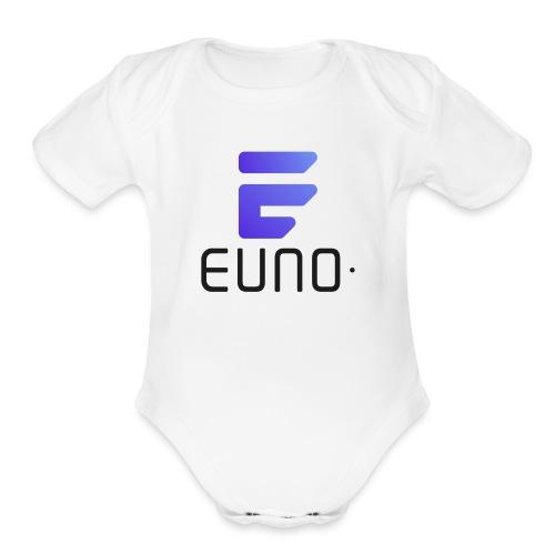 EUNO LOGO POTRAIT BLACK FONT - Organic Short Sleeve Baby Bodysuit
