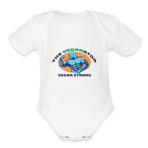 The Veganator - Organic Short Sleeve Baby Bodysuit