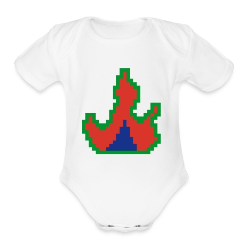 Cyber Blaze Design #1 - Organic Short Sleeve Baby Bodysuit