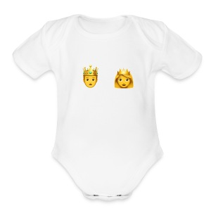prince and princess - Short Sleeve Baby Bodysuit