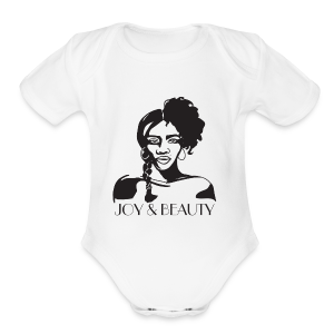Joy and Beauty Logo - Short Sleeve Baby Bodysuit
