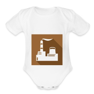 flat factory vector - Short Sleeve Baby Bodysuit