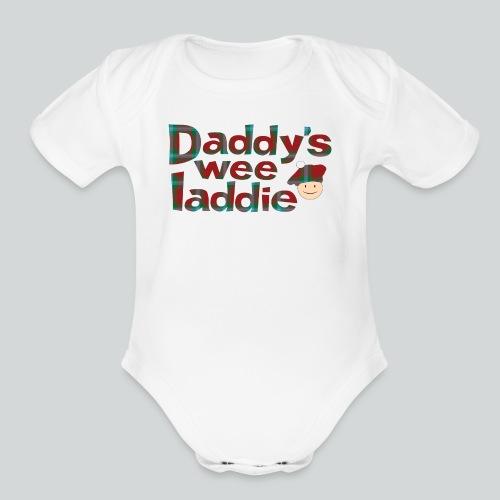 Daddy's Wee Laddie - Organic Short Sleeve Baby Bodysuit