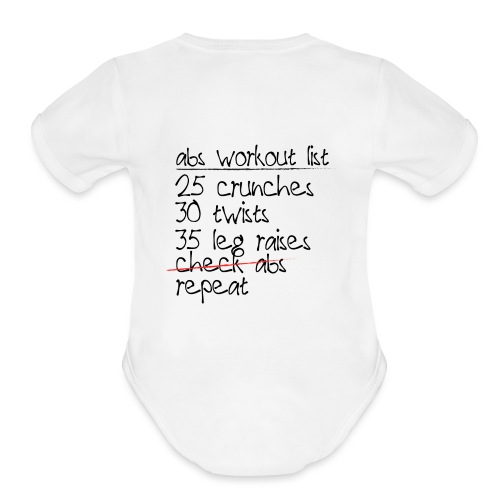 Abs Workout List - Organic Short Sleeve Baby Bodysuit