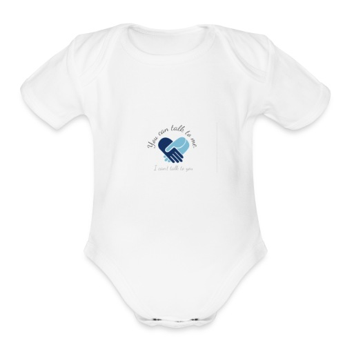 Selective Mutism Whose Choice Logo - Organic Short Sleeve Baby Bodysuit