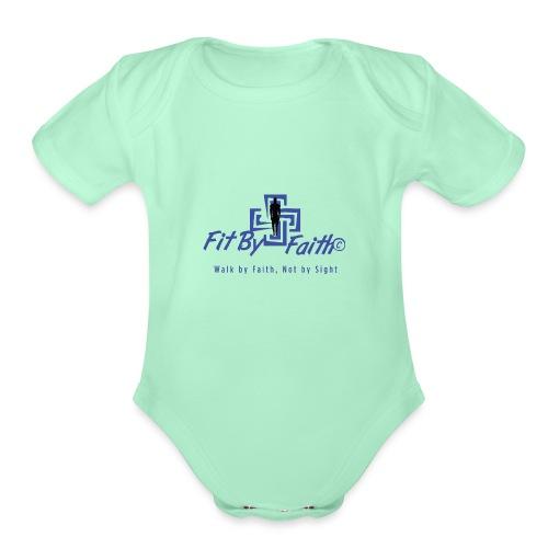 FitbyFaith back png - Organic Short Sleeve Baby Bodysuit