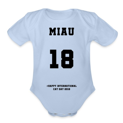 International Cat Day - Organic Short Sleeve Baby Bodysuit