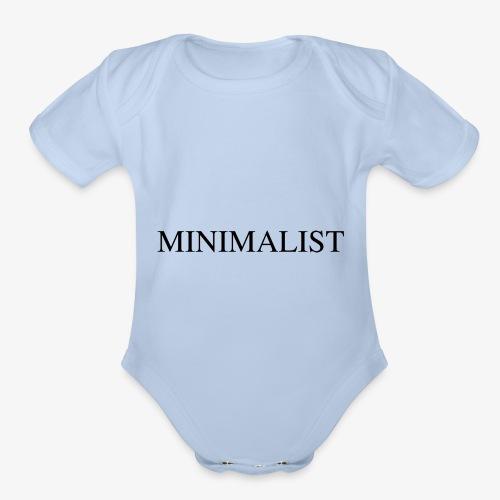 Minimalist Simple Desing - Organic Short Sleeve Baby Bodysuit