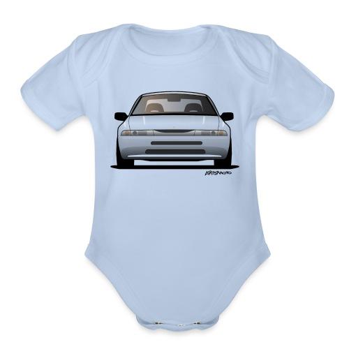 subaru_svx_sticker_clear - Organic Short Sleeve Baby Bodysuit
