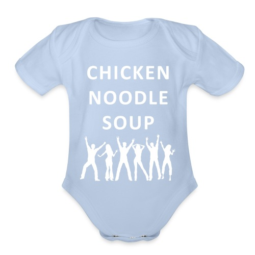chicken noodle soup2 - Organic Short Sleeve Baby Bodysuit