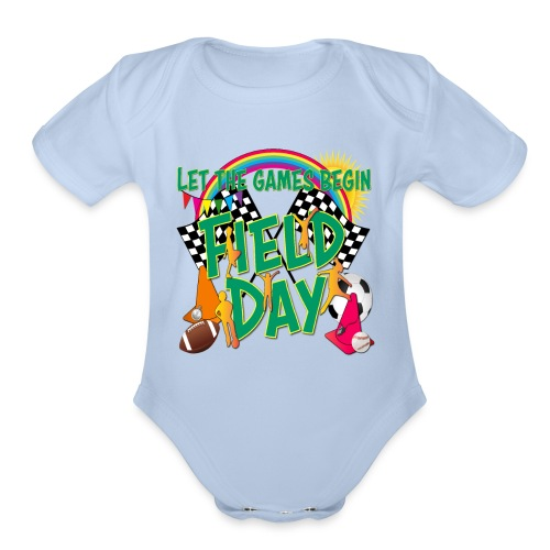 Field Day Games for SCHOOL - Organic Short Sleeve Baby Bodysuit