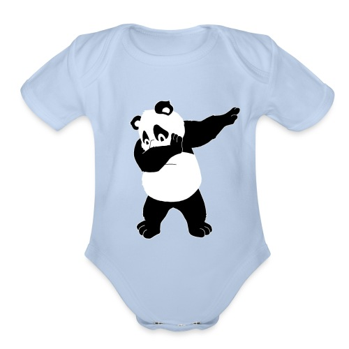 Dabbing Bear - Organic Short Sleeve Baby Bodysuit