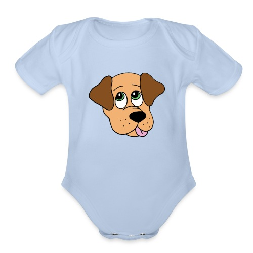 Puppy Love - Organic Short Sleeve Baby Bodysuit