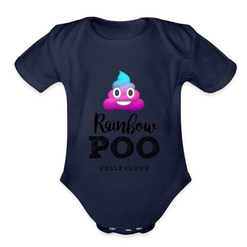 Rainbow Poo - Organic Short Sleeve Baby Bodysuit