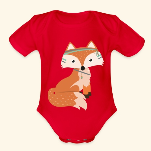 Felix Fox - Organic Short Sleeve Baby Bodysuit