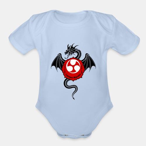 Dragon (B) - Larose Karate - Design Contest 2017 - Organic Short Sleeve Baby Bodysuit