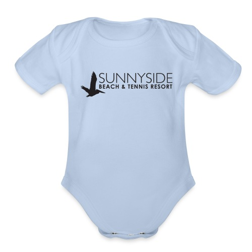 Logo Large Black - Organic Short Sleeve Baby Bodysuit