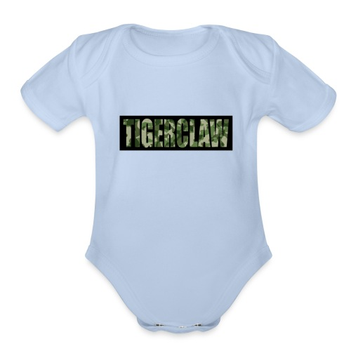 TigerClawCamo - Organic Short Sleeve Baby Bodysuit