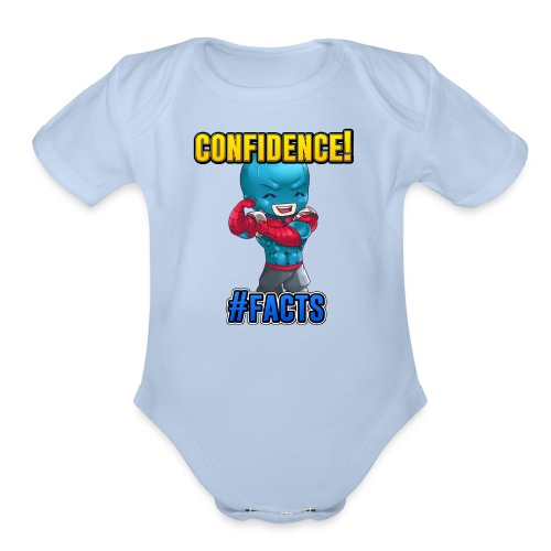 CONFIDENCE - Organic Short Sleeve Baby Bodysuit