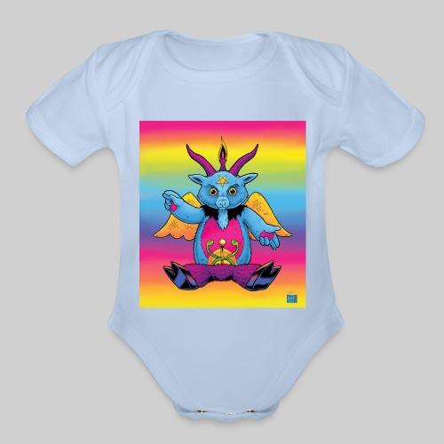 Rainbow Baphomet - Organic Short Sleeve Baby Bodysuit