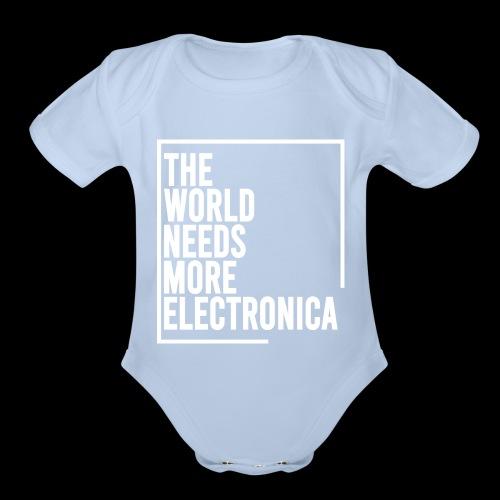 The World Needs More Electronica - Organic Short Sleeve Baby Bodysuit