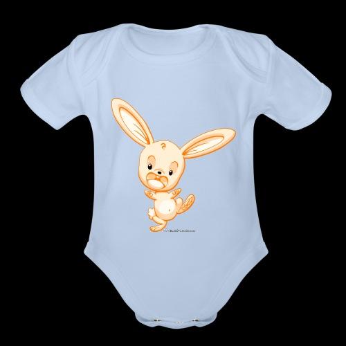 Orange Bunny - Organic Short Sleeve Baby Bodysuit