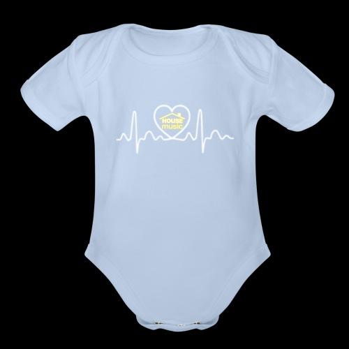 House Music Pulse! - Organic Short Sleeve Baby Bodysuit