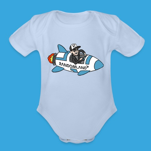 Randomland Rocket - Organic Short Sleeve Baby Bodysuit