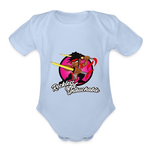ru won 01 - Organic Short Sleeve Baby Bodysuit