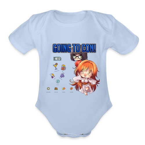 GOING TO CON - Organic Short Sleeve Baby Bodysuit