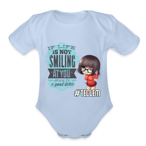SMILING AT YOU - Organic Short Sleeve Baby Bodysuit