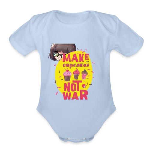 MAKE CUPCAKES - Organic Short Sleeve Baby Bodysuit