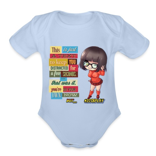 I COSPLAY - Organic Short Sleeve Baby Bodysuit
