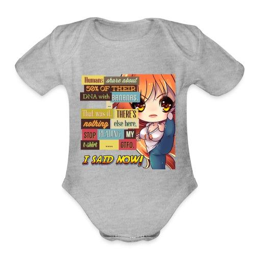 GTFOH!! - Organic Short Sleeve Baby Bodysuit