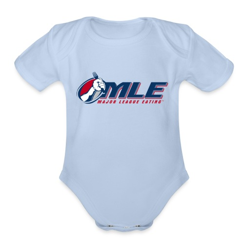 Major League Eating Logo - Organic Short Sleeve Baby Bodysuit